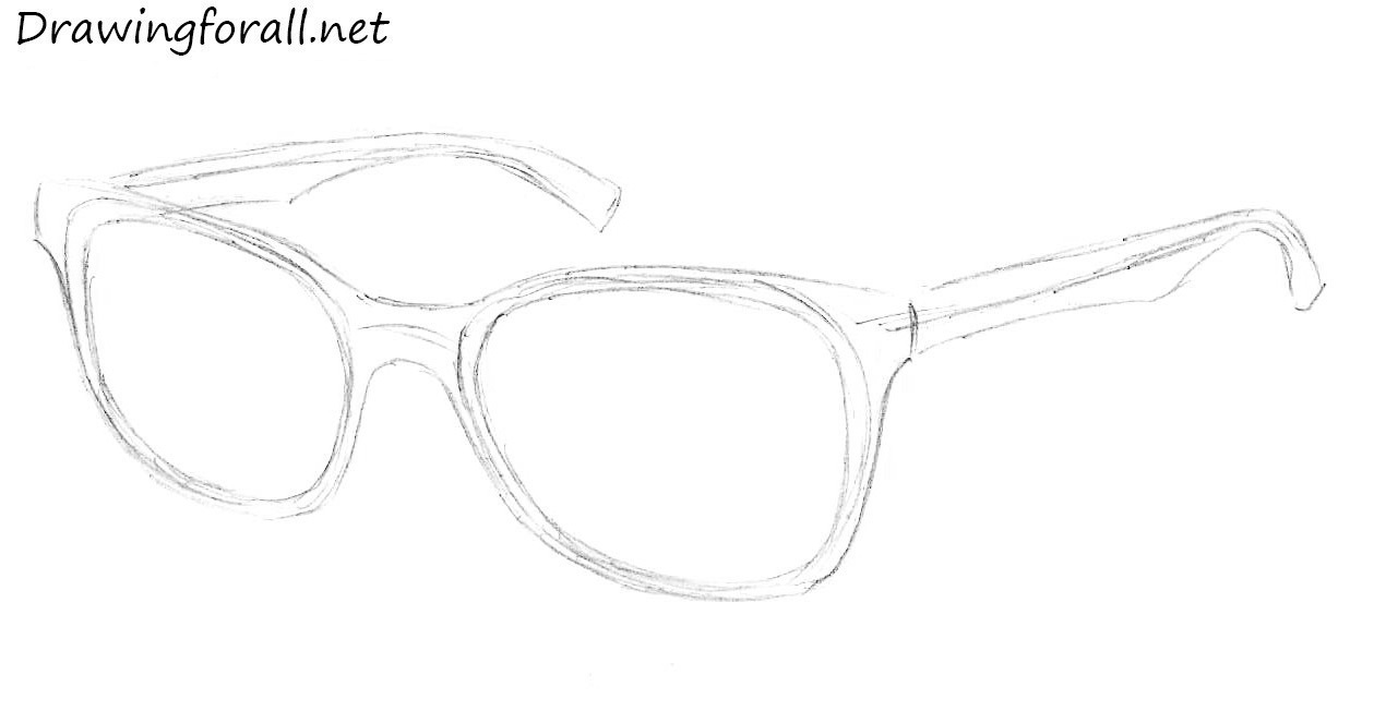 Line Art Glasses : How to draw glasses drawingforall