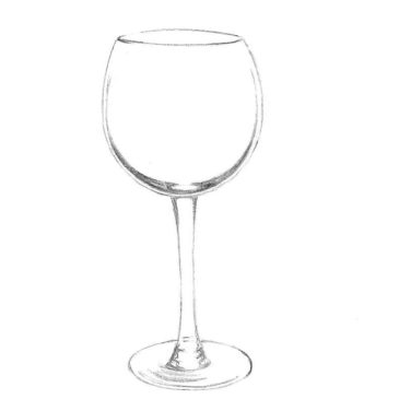 How to Draw a Wine Glass