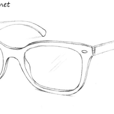 3ae9498e5410 How To Draw Ray Ban Glasses
