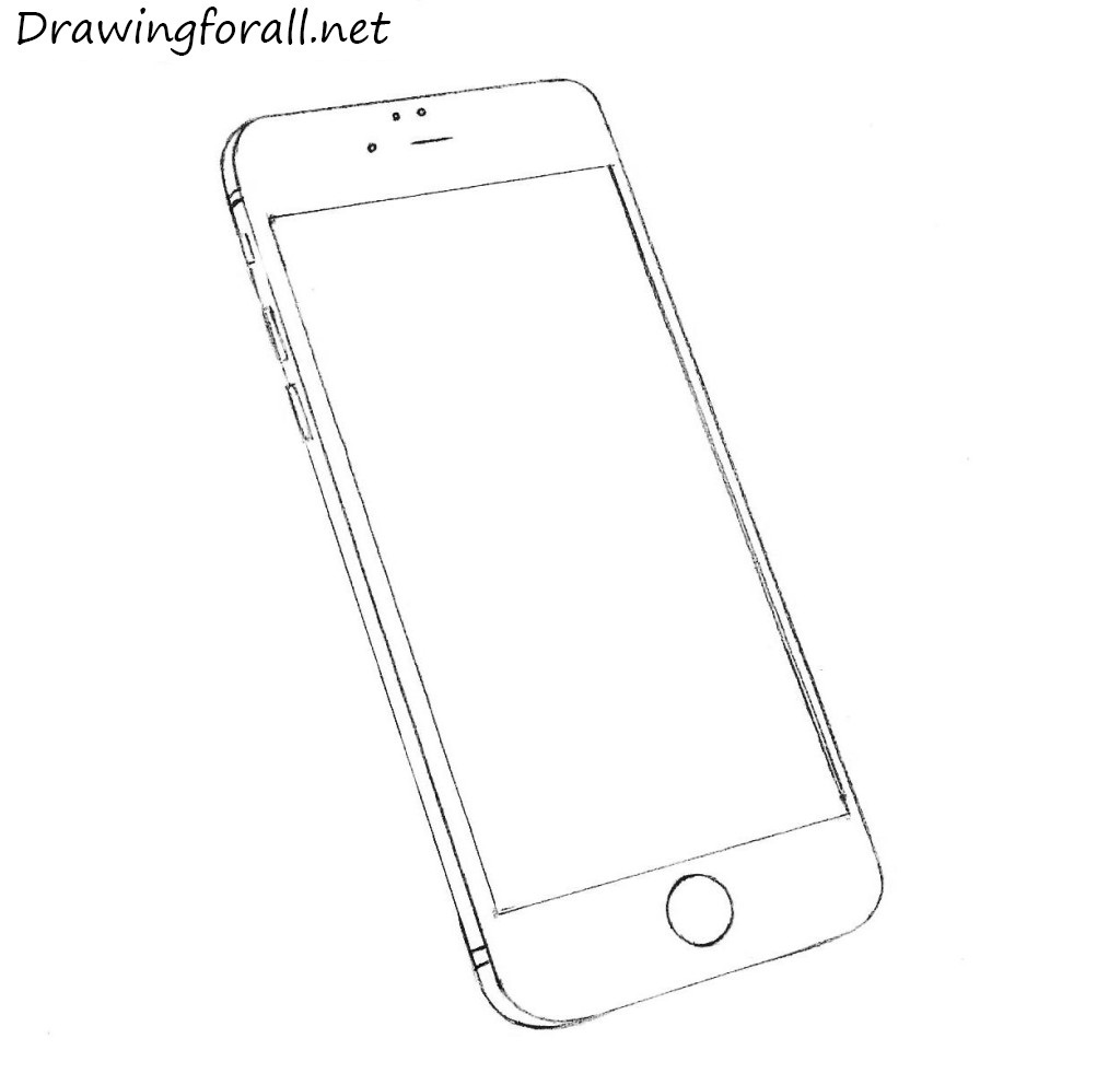 How to draw an iphone for Iphone 5 coloring pages