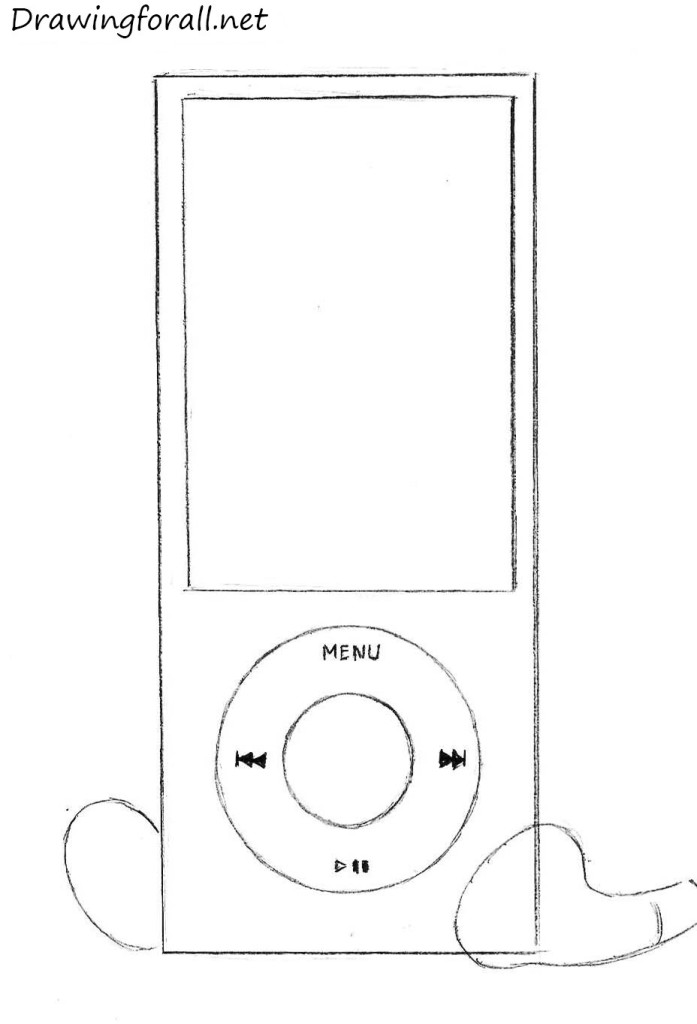 How to Draw an iPod | DrawingForAll.net