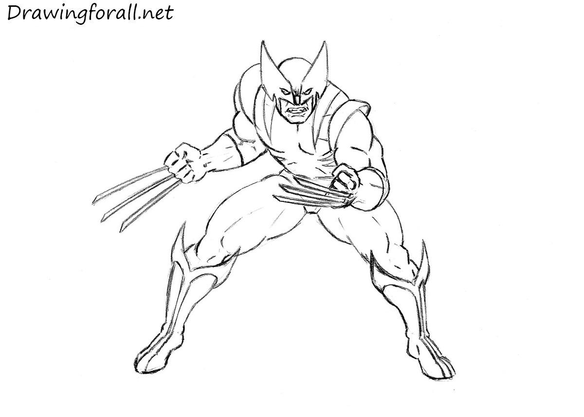 How to draw wolverine - Wolverine dessin ...