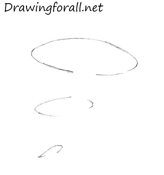 how to draw a mushroom