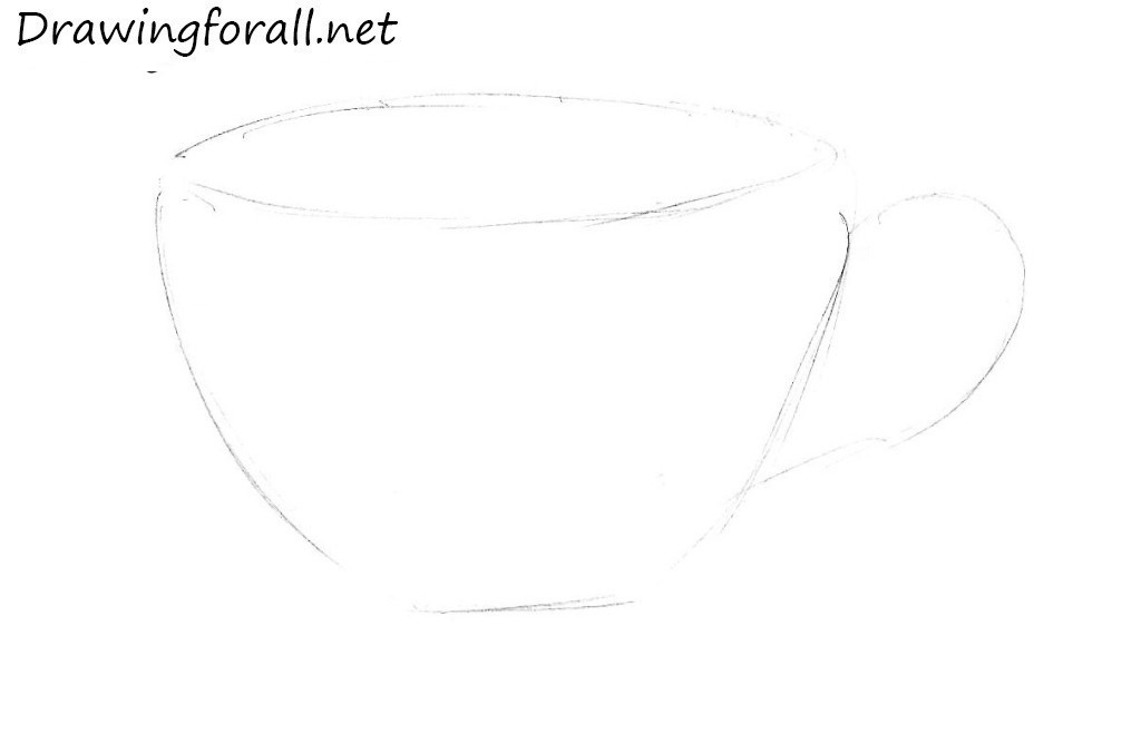 1 how to draw a tea cup