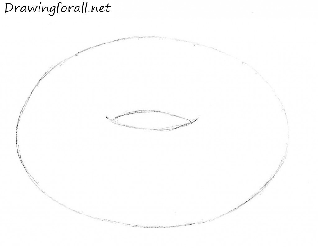 How to Draw a Donut | DrawingForAll.net