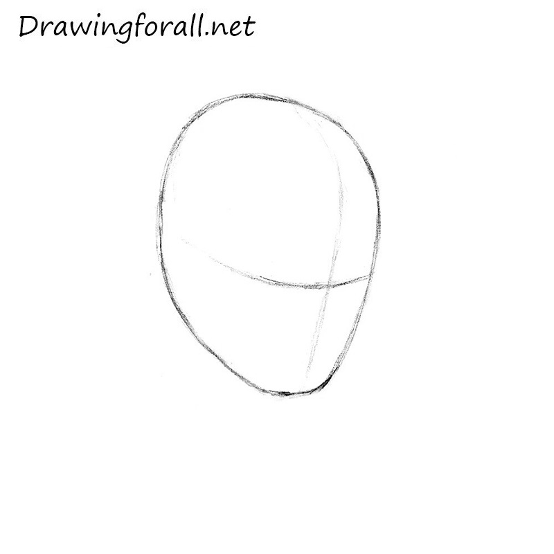 how to draw Spider-Man's mask step by step