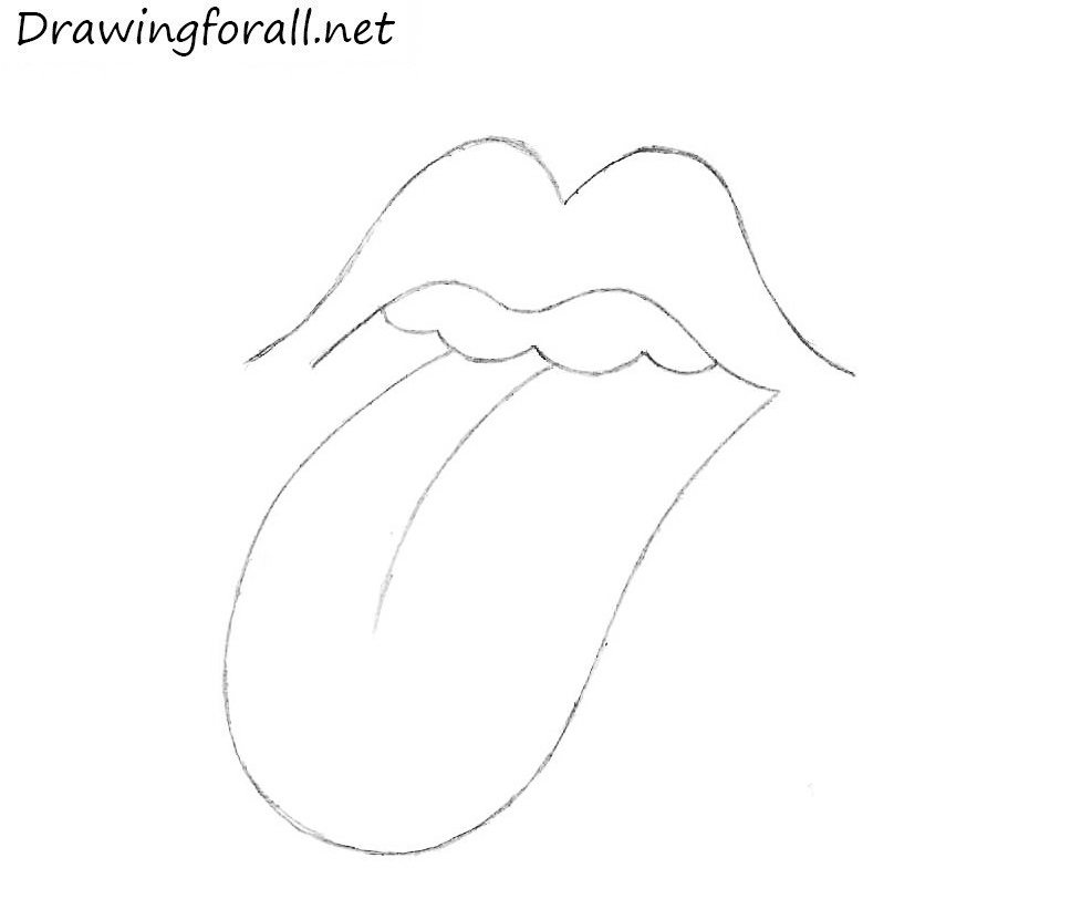 How to draw the rolling stones tongue and lips