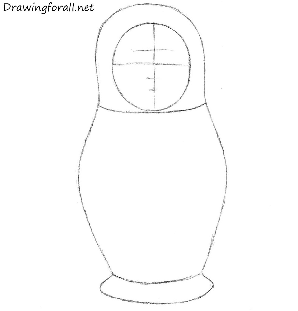 Russian nesting doll step by step
