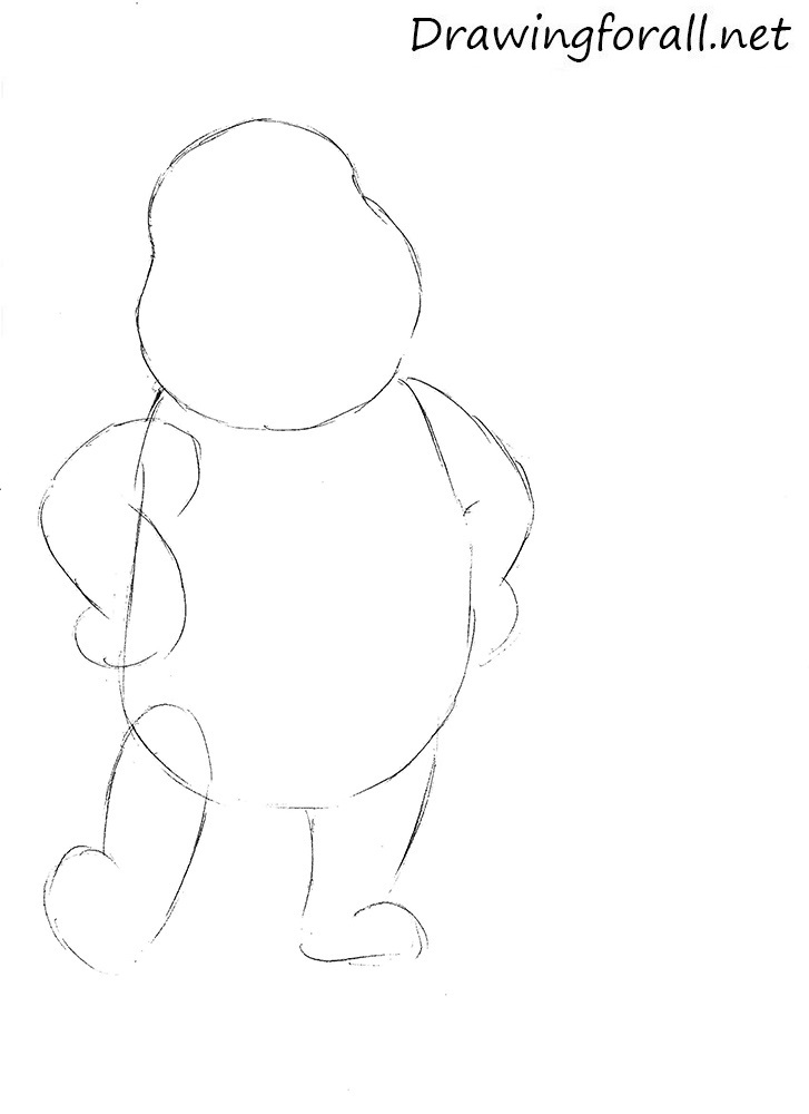 how to draw winnie the pooh easy