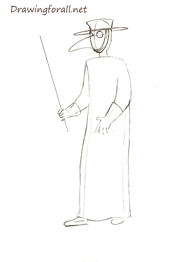 Plague Doctor drawing pencile