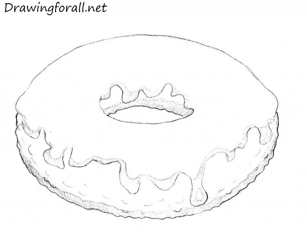 drawn donut
