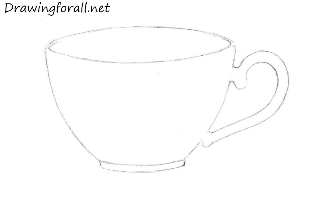 How To Draw A Cup Drawingfl