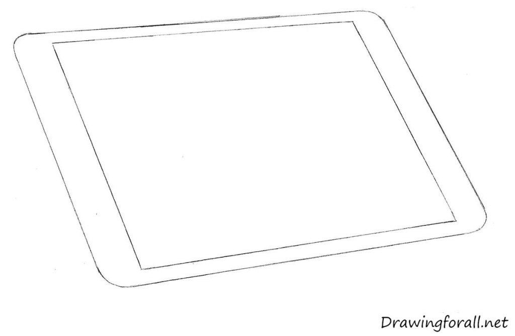 how to draw apple ipad step by step