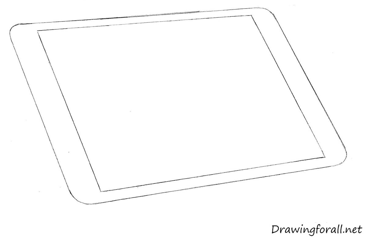 Uncategorized How To Draw An A how to draw an ipad drawingforall net apple step by step