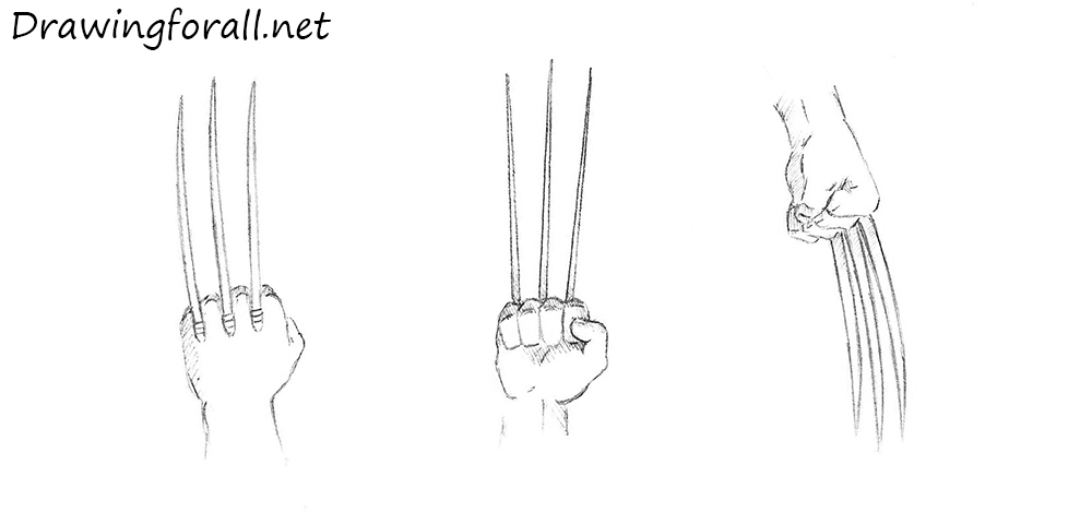 wolverine's claws drawing