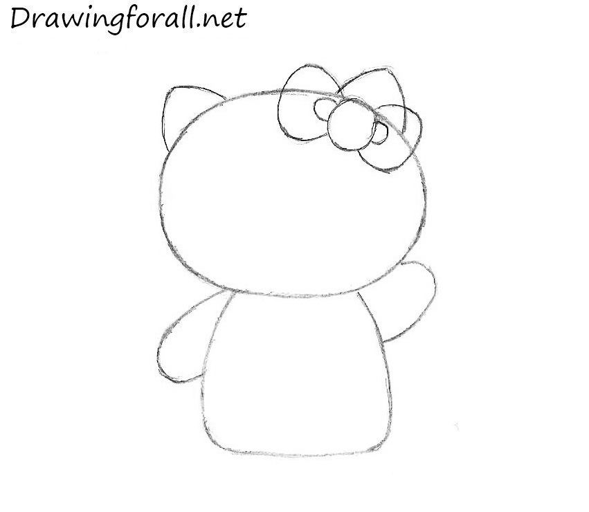 how to draw Hello Kitty bow