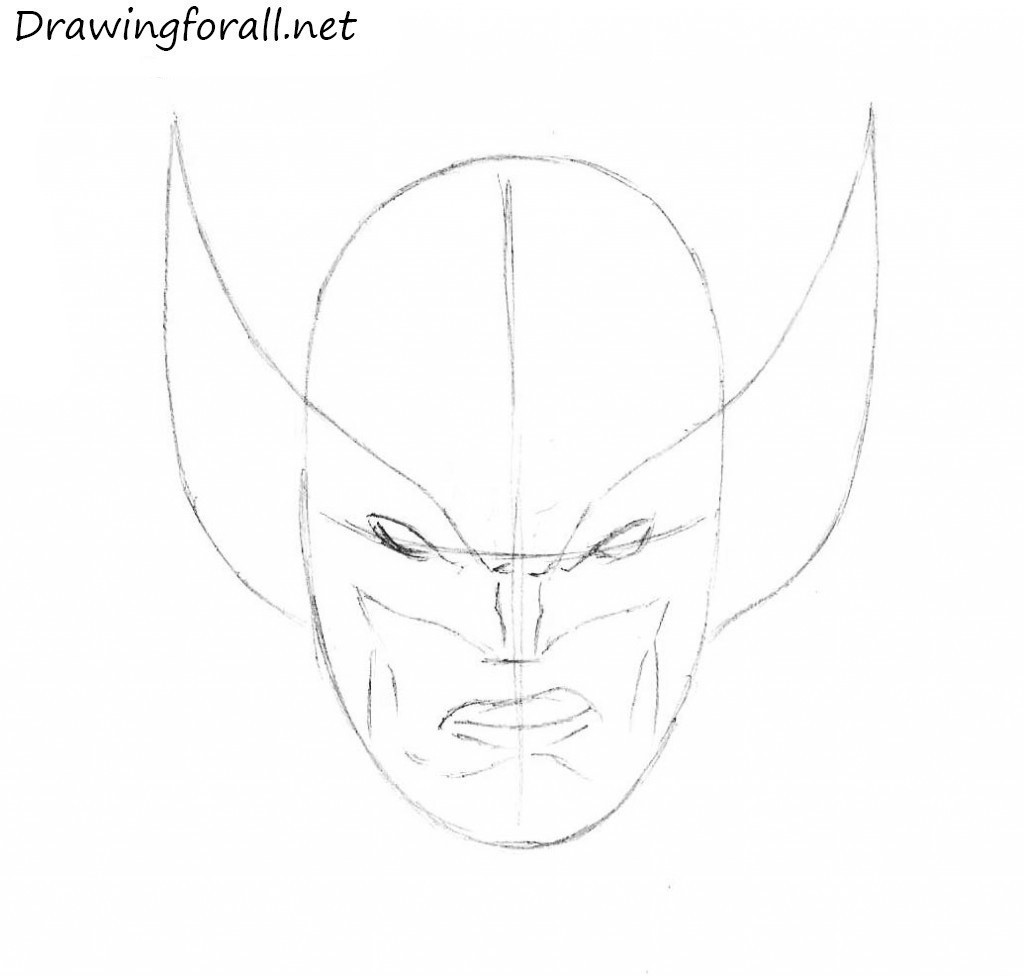 how to draw logan face