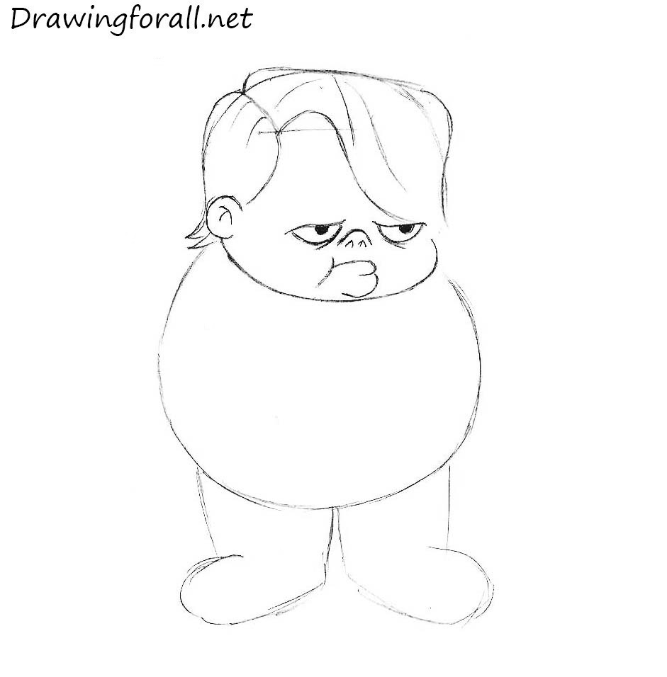 how to draw louie anderson from fox kids