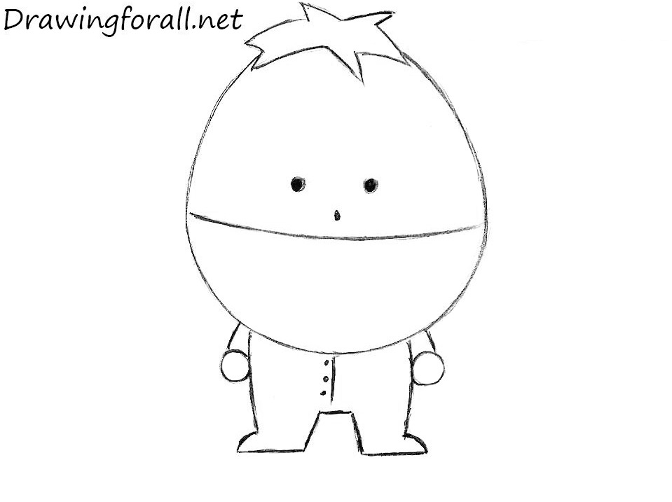 ike from south park pencile drawing