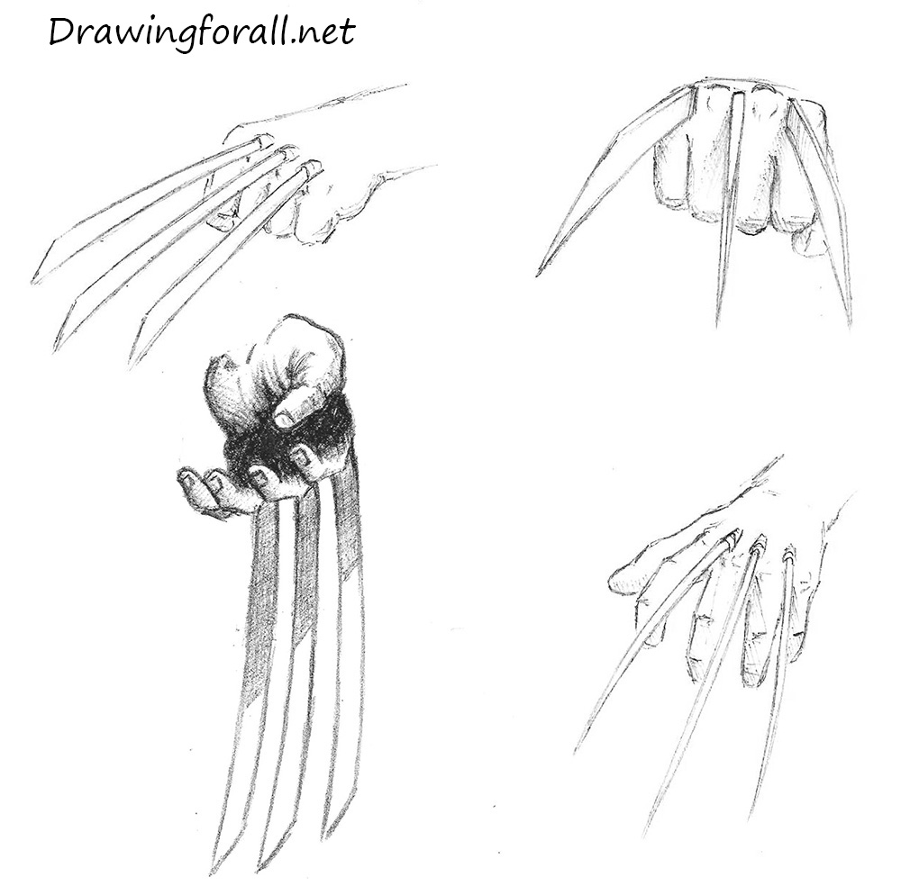how to draw wolverine claws drawingforall net