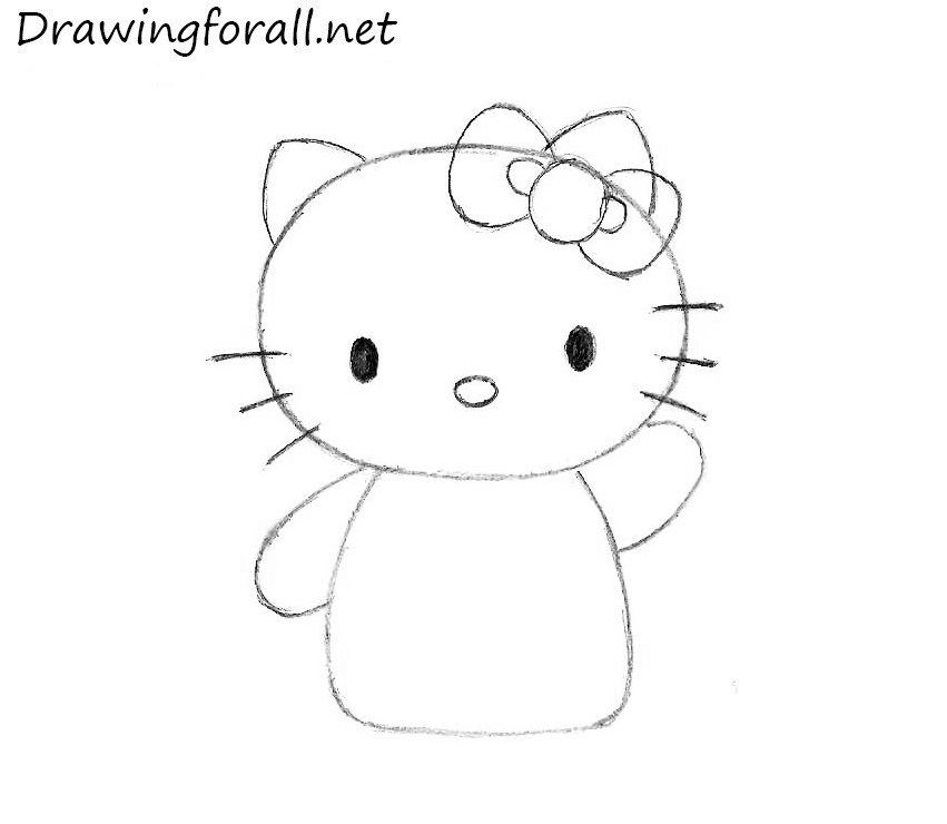 how to draw Hello Kitty head