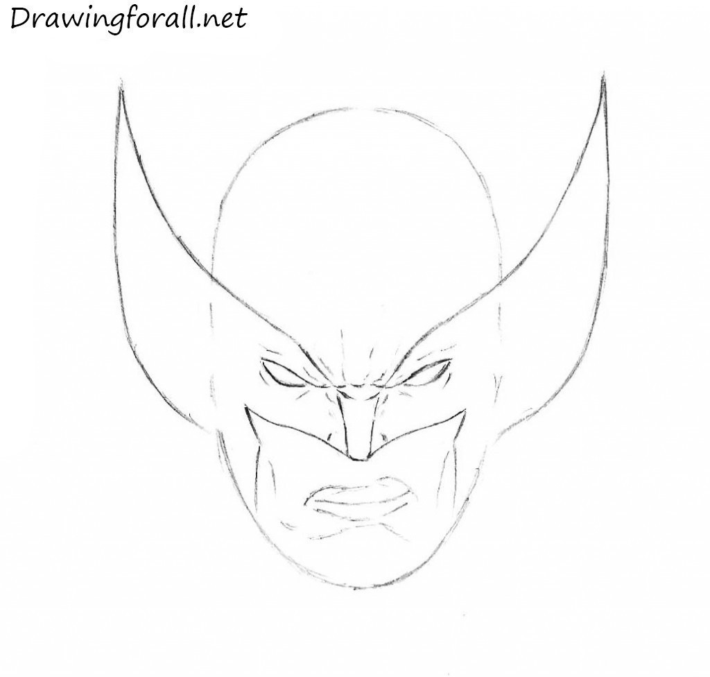 how to draw mask of the wolverine
