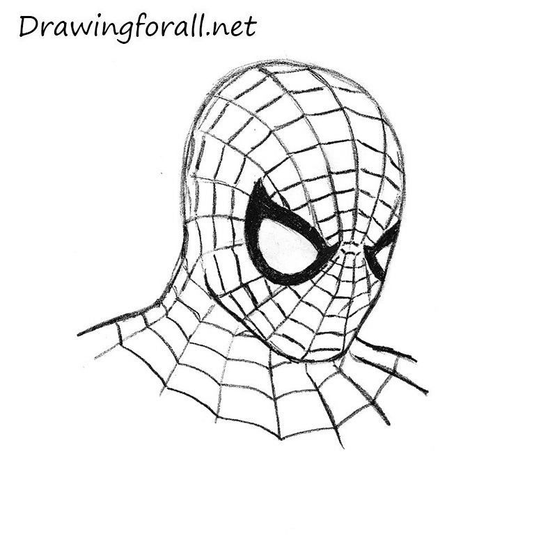 spider-man's mask drawing
