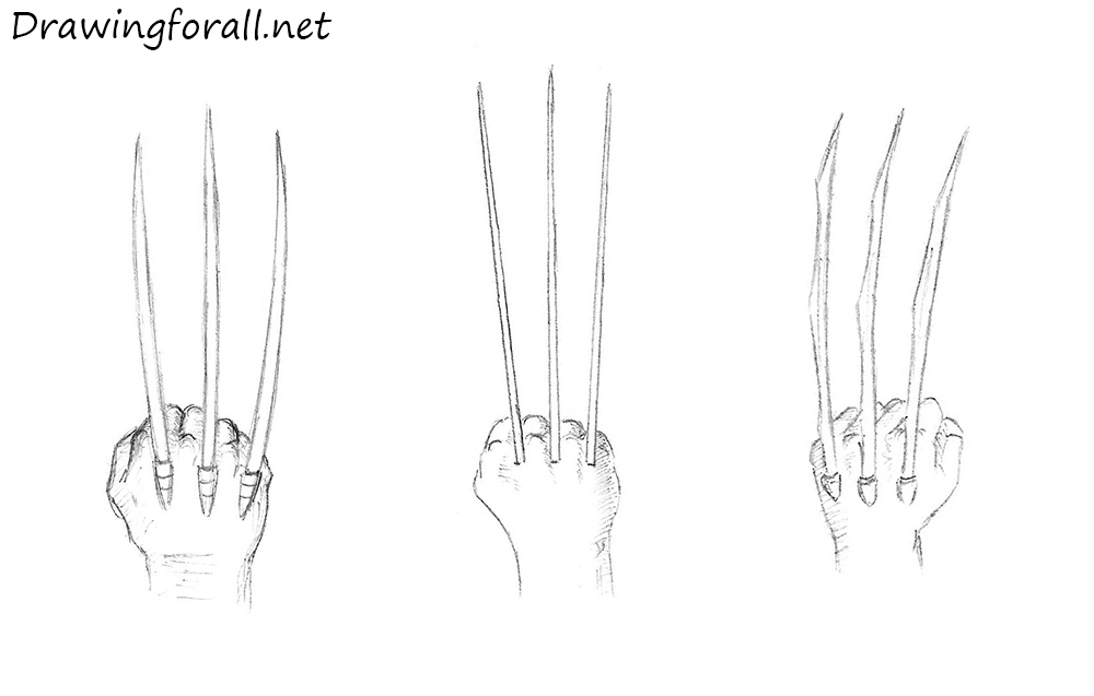 wolverine claws drawing