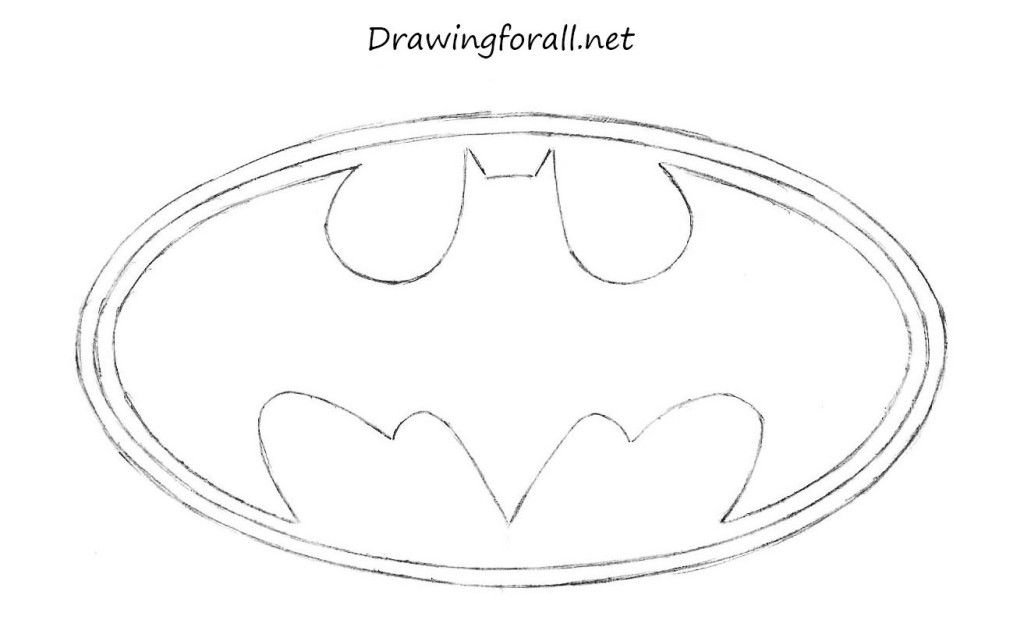 batman's logo drawing