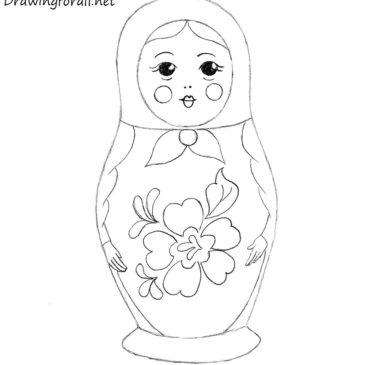 How to Draw a Matryoshka Doll