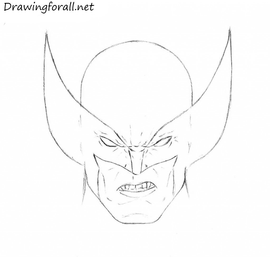 wolverine mask drawing