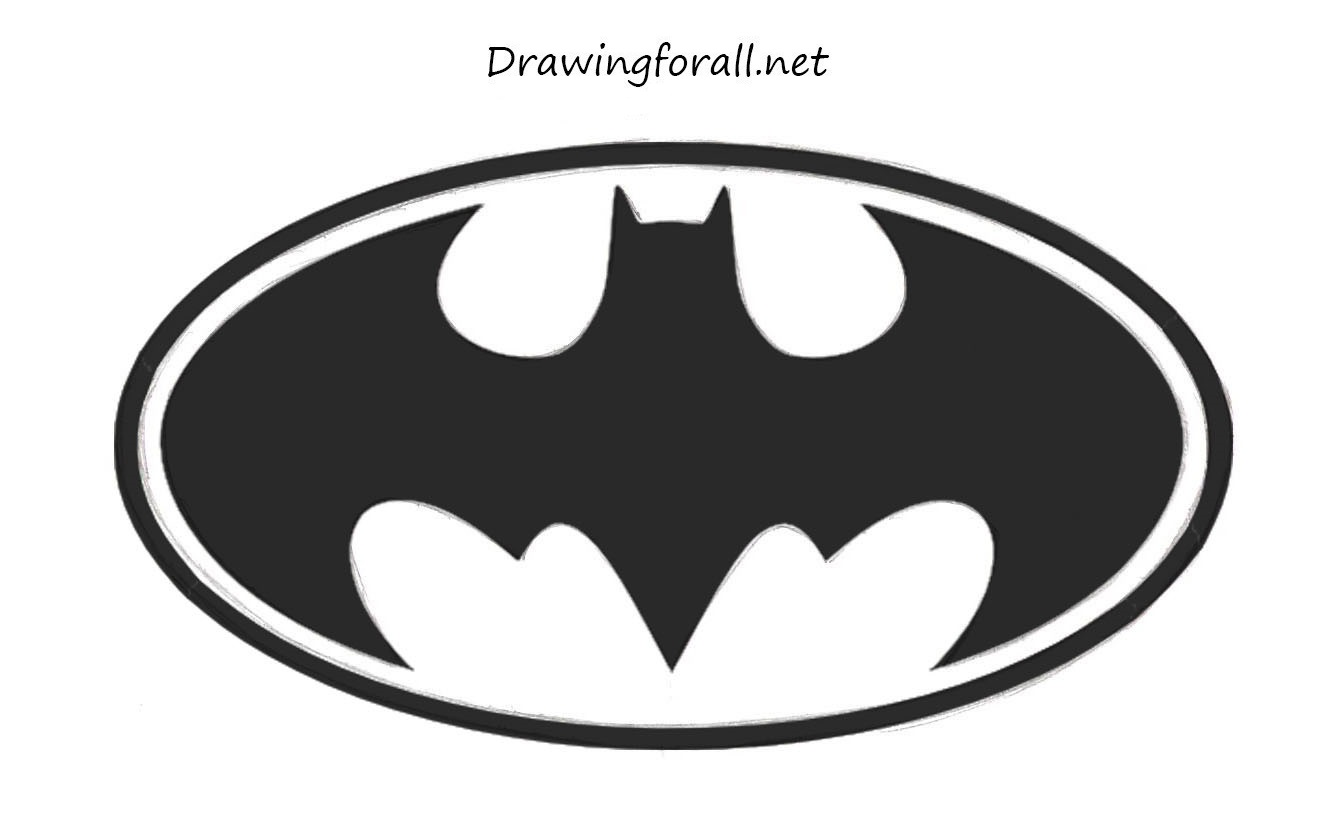 how to draw batman s logo drawingforall net rh drawingforall net batman logo drawing easy batman symbol drawing step by step