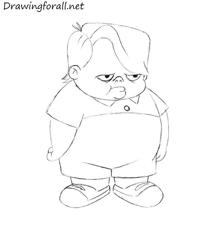 louie anderson pencile drawing