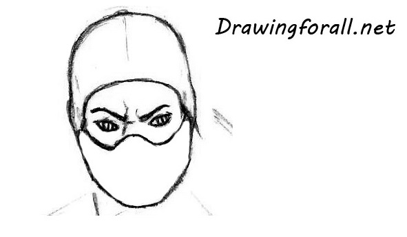 how to draw the mask of reptile