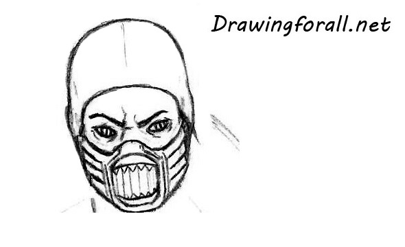 how to draw the mask of reptile from mk