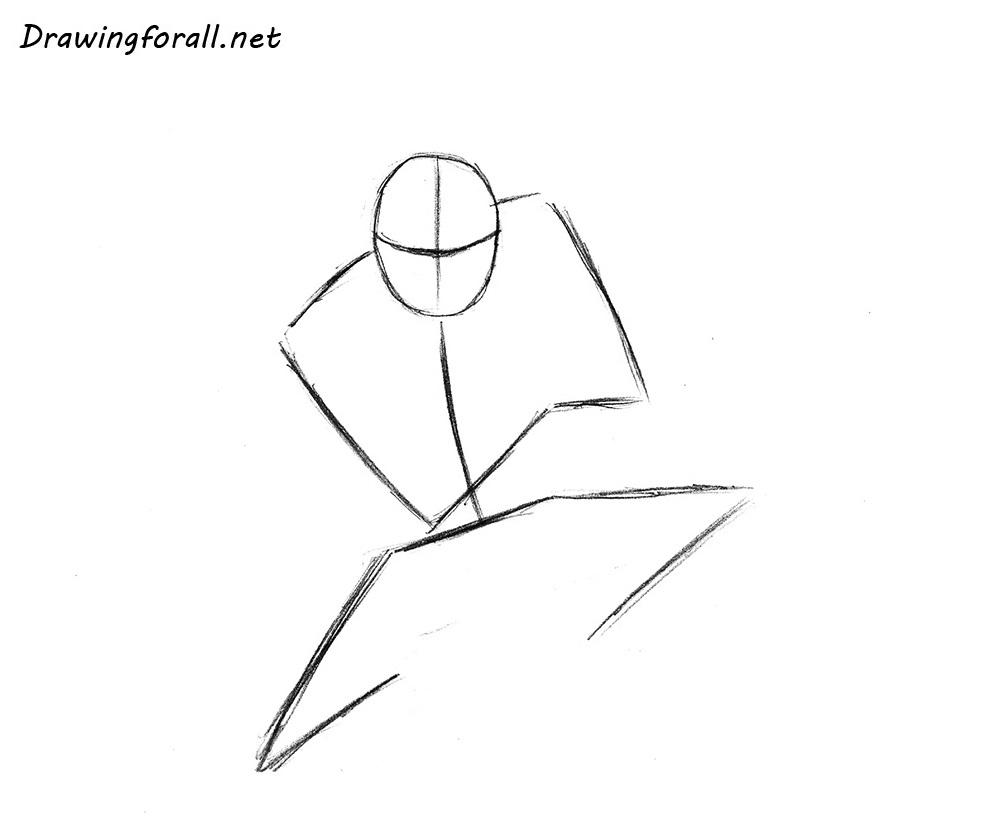 how to draw ninja