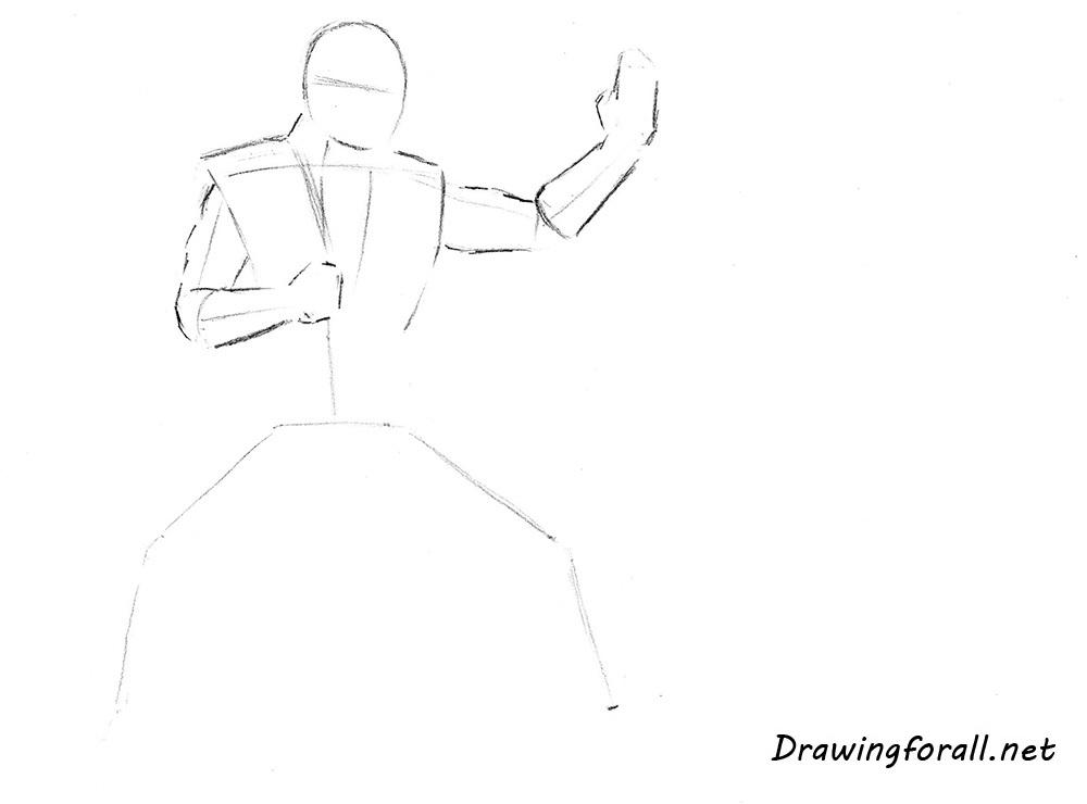 how to draw Sub-Zero step by step