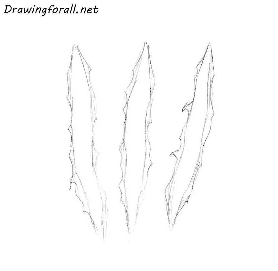 how to draw wolverine clawmarks