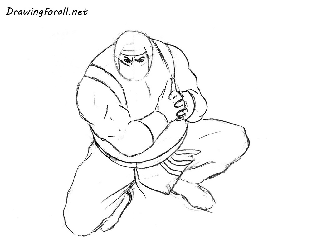 how to draw a ninja with a pencil