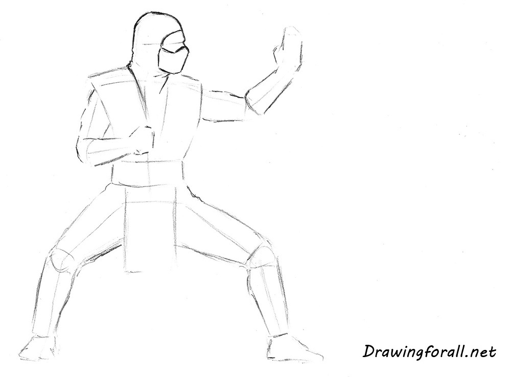 how to draw Sub-Zero mk