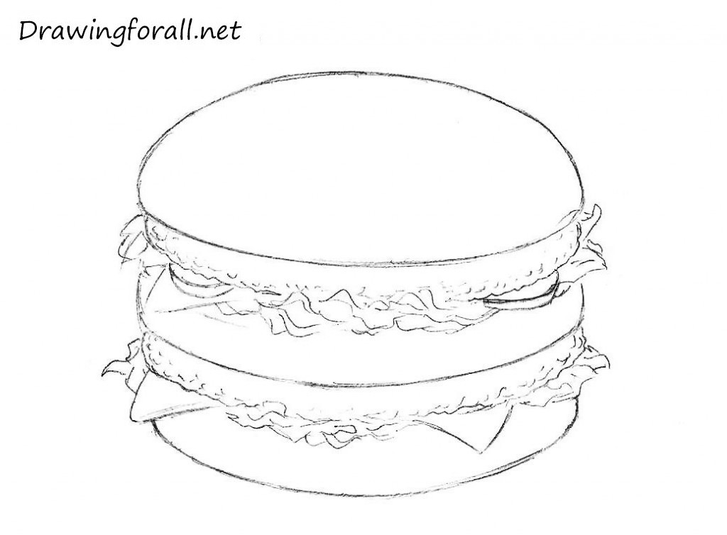 4 how to draw big mac, big tasty, wopper