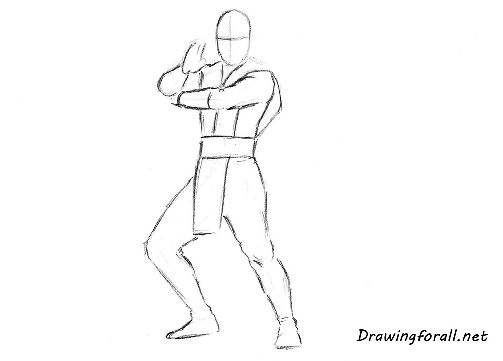 how to draw scorpion with a pencil