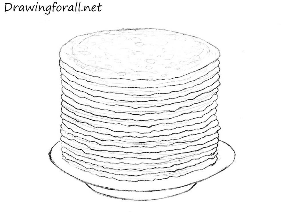 pancakes drawing