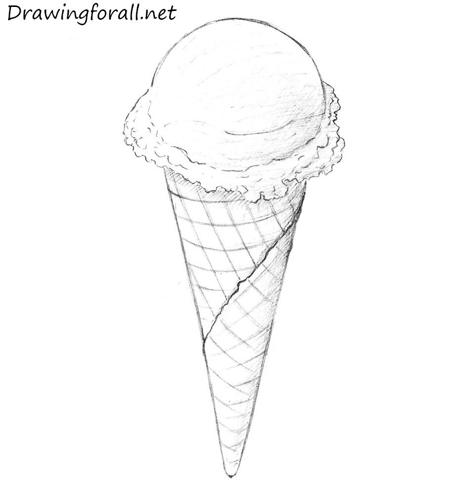 How To Draw An Ice Cream Drawingforallnet
