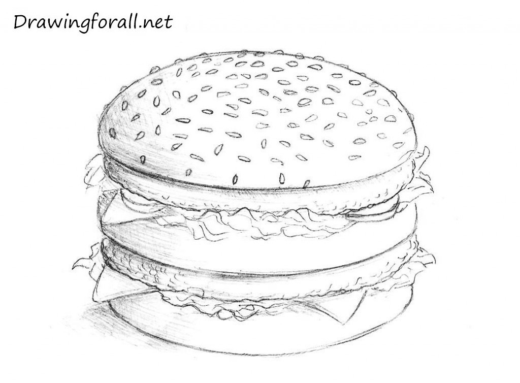 5 hamburger drawing