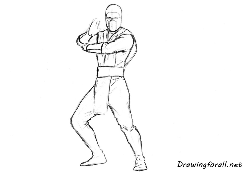 how to draw scorpion from mortal kombat movie