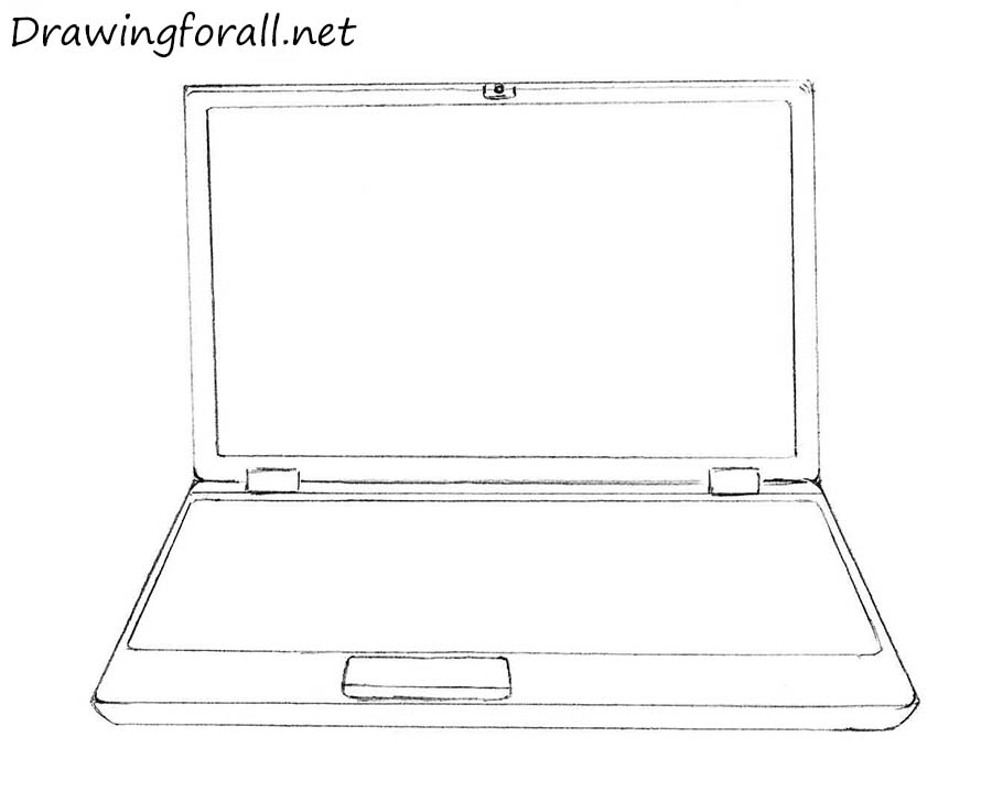 laptop pencil drawing