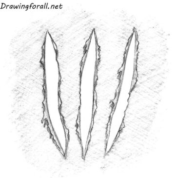 How to Draw Wolverine Claw Marks