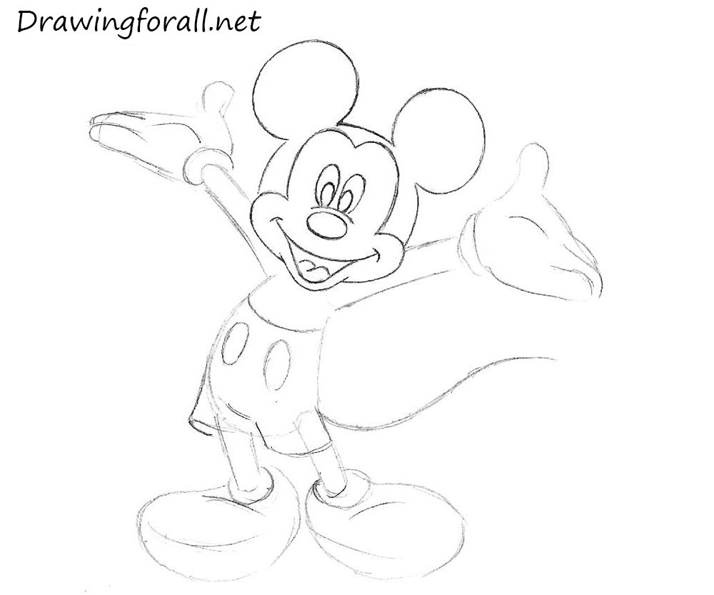 drawings of mickey mouse