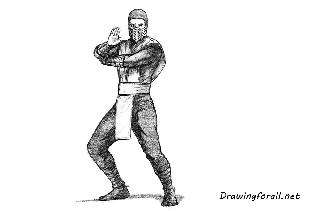 how to draw scorpion